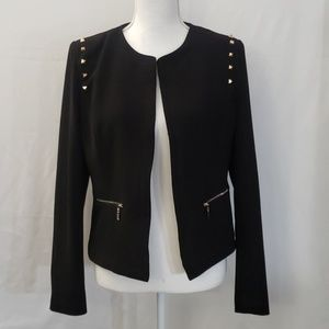 Forever 21 Blazer   Size L   Black w/ Gold Accents